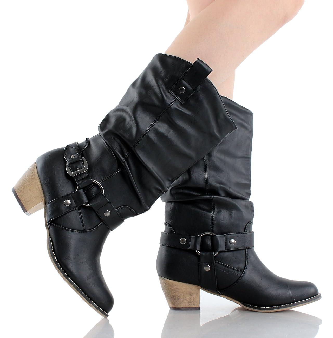 Refresh Women Wild-02 Western Style Cowboy Boots 3