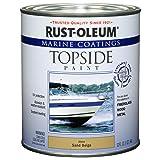 Rust-Oleum 207003 Marine Topside Paint, Sand Beige, 1-Quart - 4 Pack (Color: Sand Beige, Tamaño: 4-Quarts)