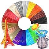 Wesen 3D Pen/Printer Filament Refills 3D Printing Drawing Pen Filament 1.75mm PLA of 18 Vibrant Colors 20 Feet- Total 360 Feet (Color: 18 colors, Tamaño: 18 colors-360 feet)