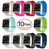 UMTELE Soft Silicone Replacement Band for Fitbit Blaze Smart Fitness Watch, Small 10 Pack (Color: 10pcs, Tamaño: Small)