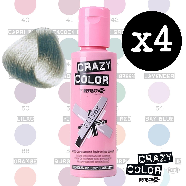 Crazy Colours Silver Crazy Colour Semi Permanent