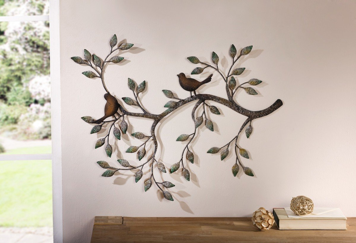 Flying birds metal wall art beautiful birds for wall - Decoration murale design metal ...