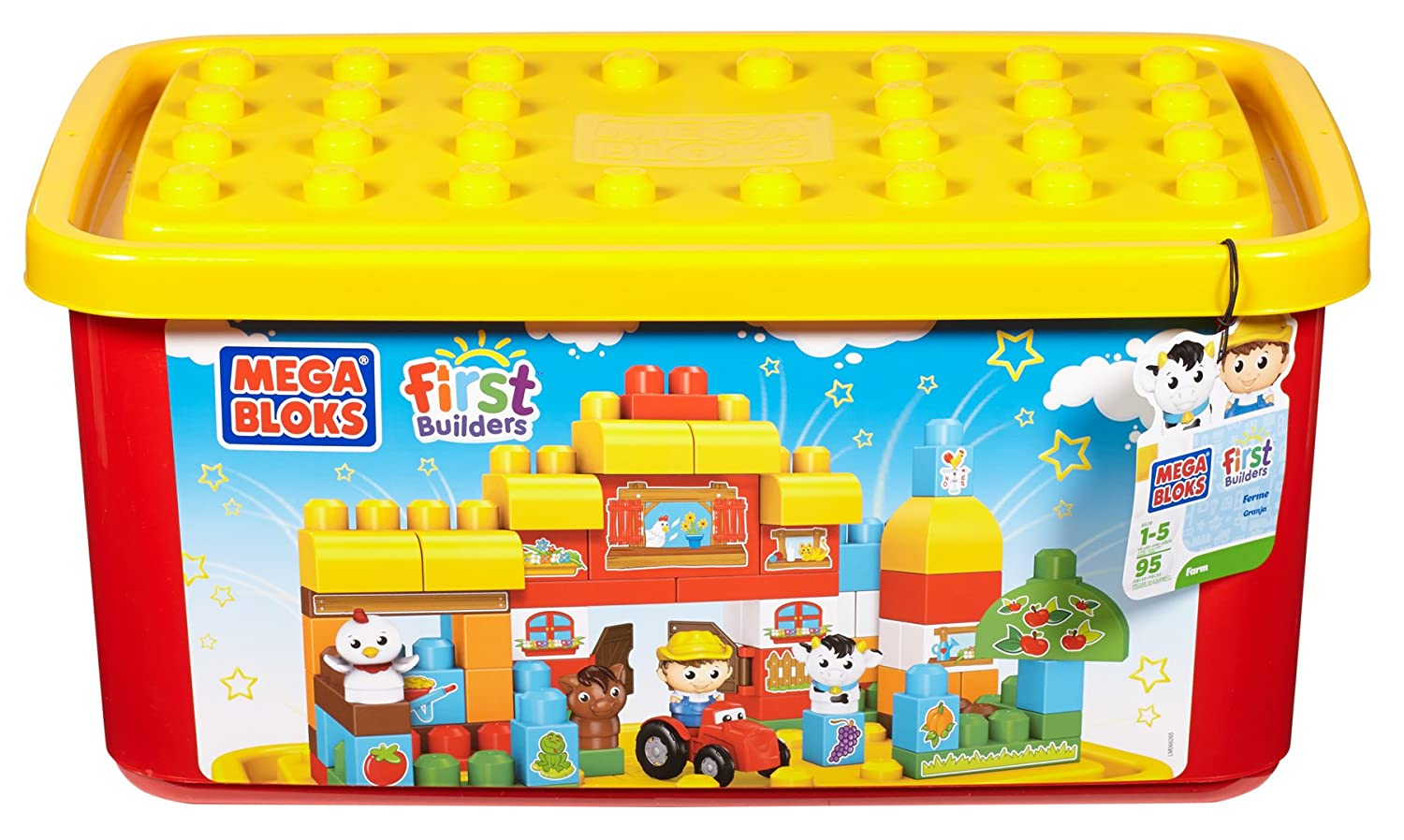 mega bloks first builders farm tub new free shipping