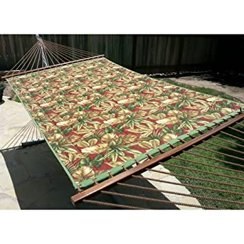 now the price for click the link below to check it  castaway quilted hammock  burgundy q9022 il  0 0 castaway quilted hammock green burgundy palm pattern design      rh   sites google