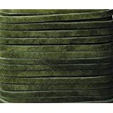 Realeather Suede Craft Lace Dark Olive 1/8