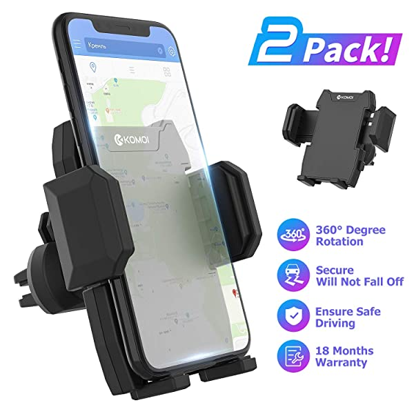 SE 6s 6 7 7 6 5s Samsung Galaxy S10 S9 S8 S7 and More Pivoi Universal Car Air Vent Mount Cradle with 360 Degree Rotation Compatible with iPhone 11 Pro Max XS XS Max XR X 8 8