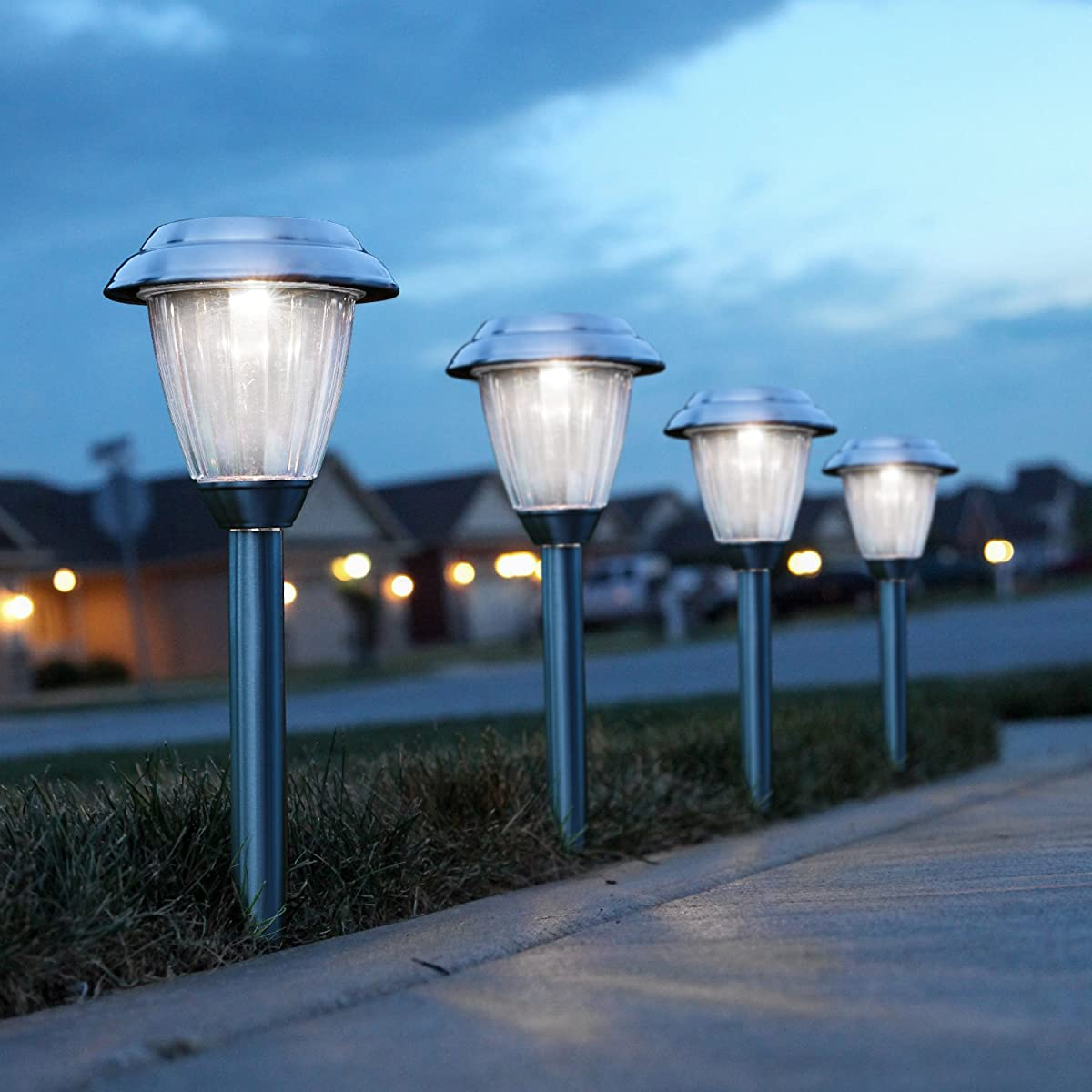 Solar Landscape Lights Outdoor: Solar Pathway Lights Outdoor, Kohree Led Solar Landscape