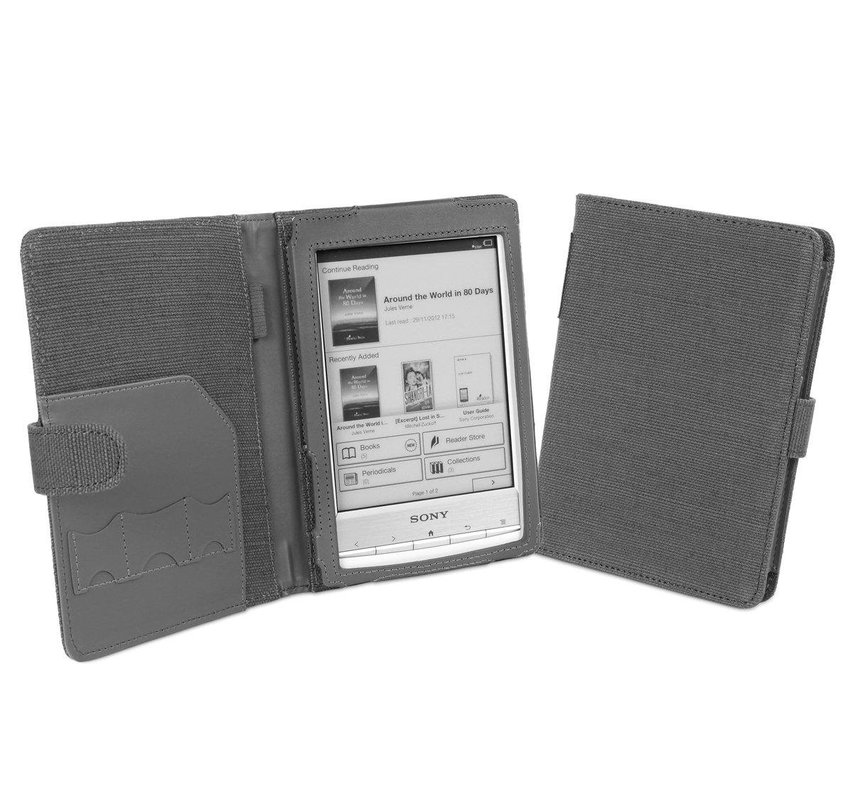 Cover-Up - Funda estilo libro para tablet Sony Reader PRS-T1, PRS-T2 (cáñamo) Slate Grey  Informática Comentarios y más información