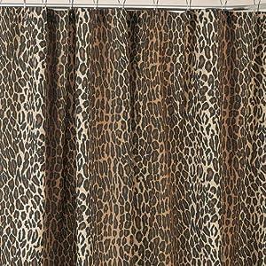 leopard print shower curtain home kitchen