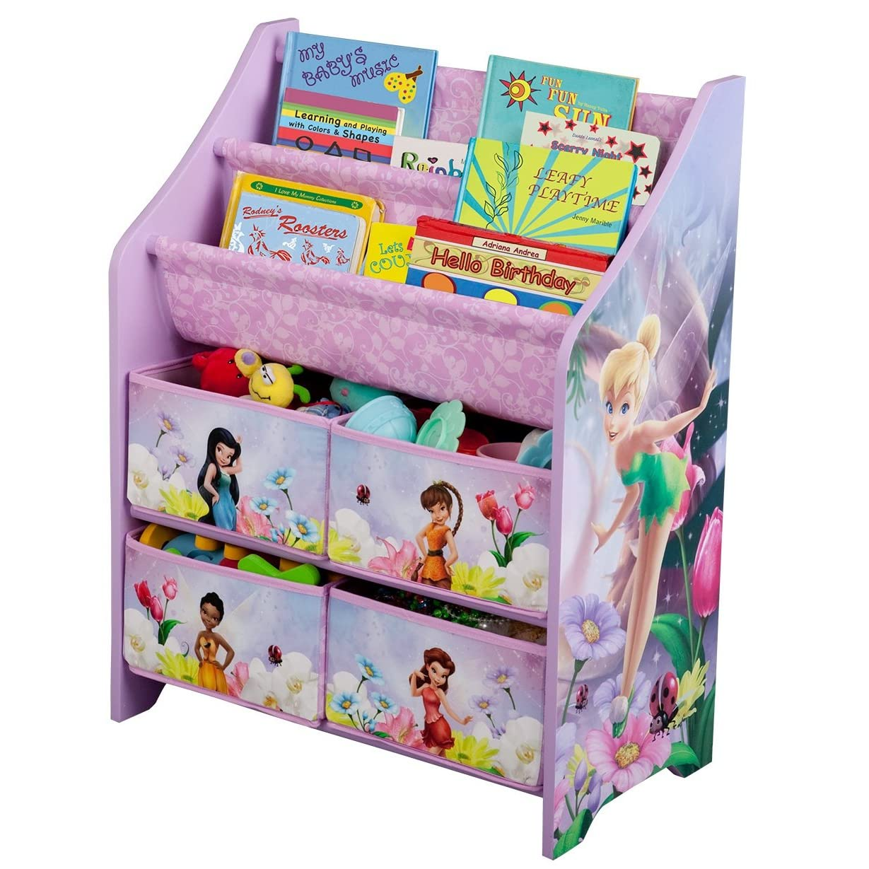 Disney princess book toy organizer perfect for storing for Toy and book storage