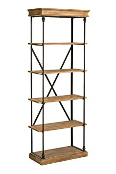 Premier Housewares Tribeca 5-Tier Wood Shelf Unit - Natural