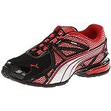 PUMA Voltaic 5 Sneaker , Black/High Risk Red/PUMA Silver, 5 M US Toddler