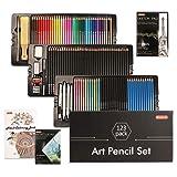 Shuttle Art 123 Pack Art Pencil Set, 36 Watercolor Pencils,36 Oil Based Pencils,12 Sketch Pencils,12 Metallic Color Pencils,12 Charcoal Pencils,15 Pieces Drawing Kit, Great Gift for Kids Adults (Color: 123 Pack Art Pencil Set)