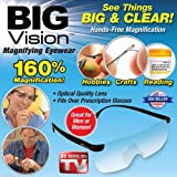 Big Vision Magnifying Glasses As Seen On TV Everything 160 Bigger & Clearer US