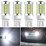Botepon 4Pcs 7443 T20 7440 7441 7444 992 Led Reverse Light, 5630 33-SMD 900 Lumens 8000K Extremly Bright Led Bulb for Car Led Backup Reverse Lights Tail Brake Stop Lamp 12V White