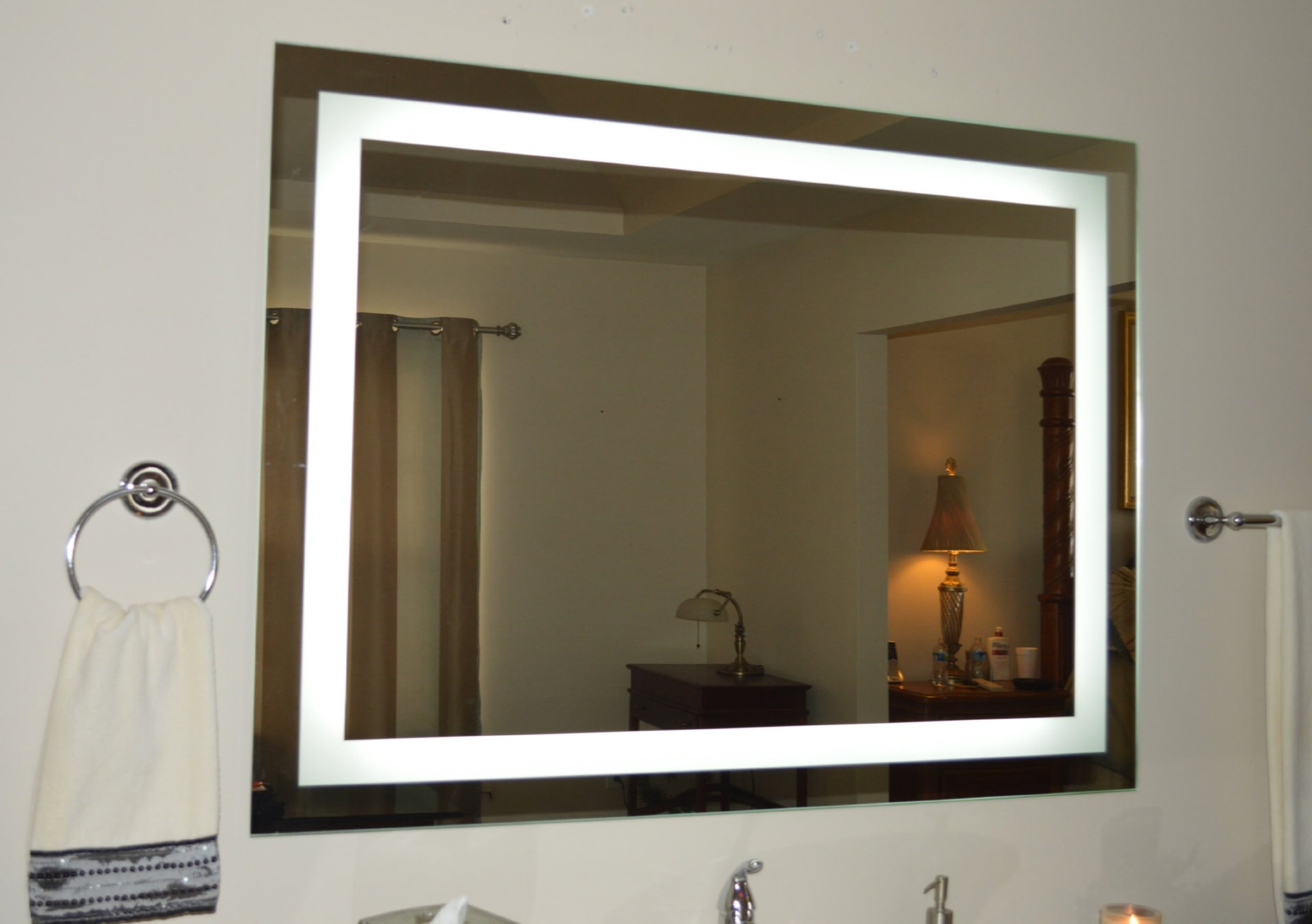 galleon wall mounted lighted vanity mirror led mam84836 commercial. Black Bedroom Furniture Sets. Home Design Ideas