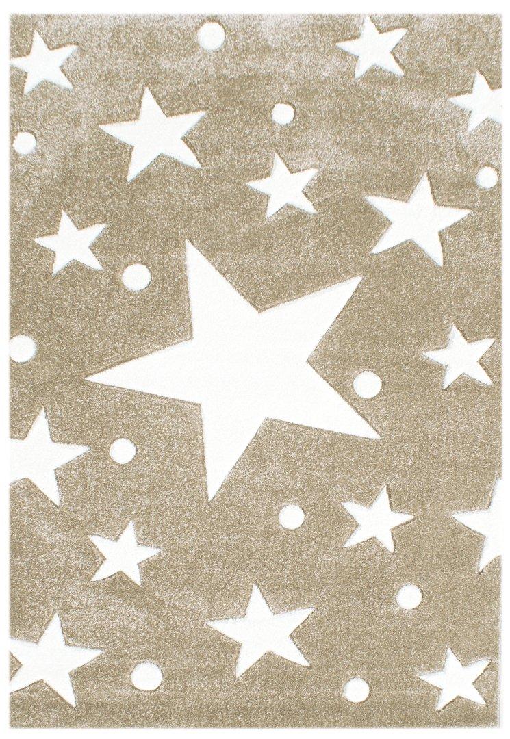 Kinderteppich Happy Rugs STARS beige/weiss 120×180 cm günstig bestellen