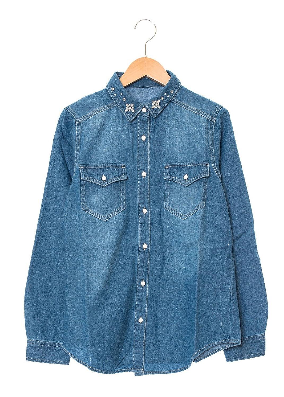 Amazon.co.jp: (スピンズ)SPINNS プレーンデニムシャツ ブルー: 服&ファッション小物通販