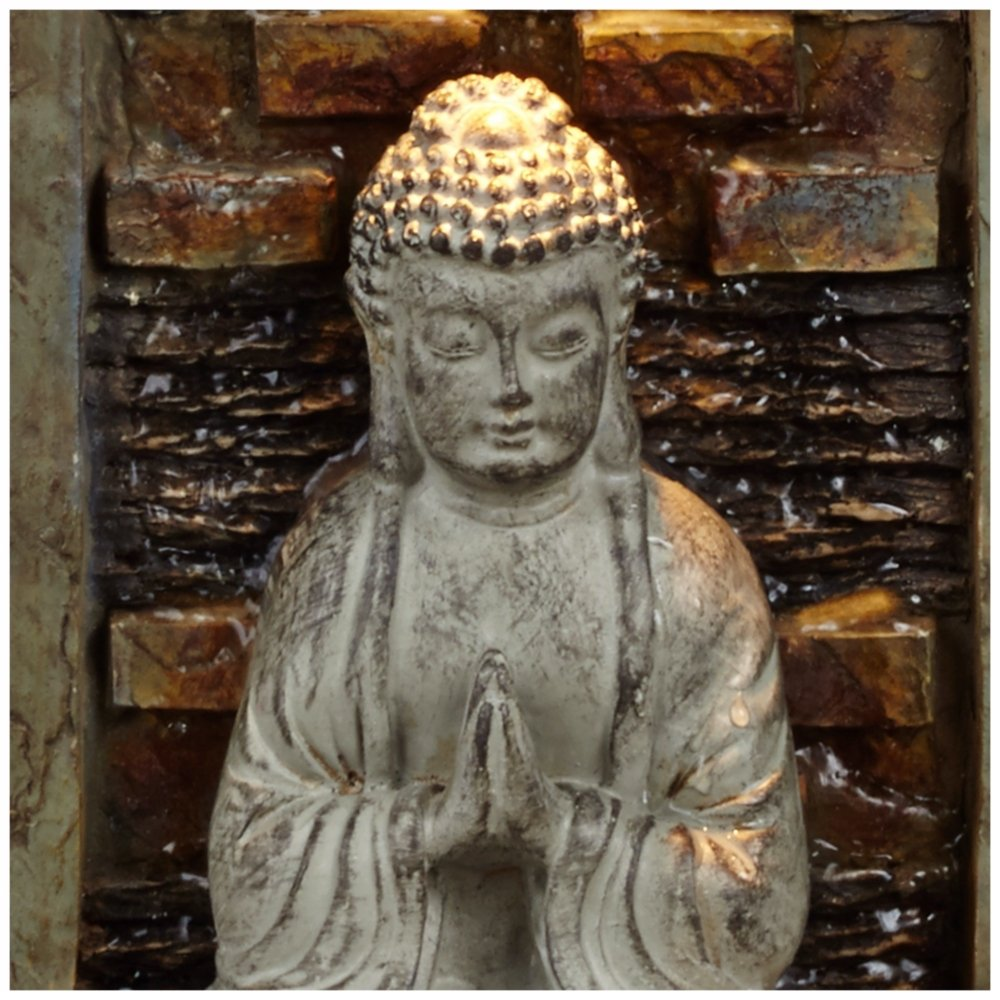 Namaste buddha 11 12 high indoor table fountain workwithnaturefo