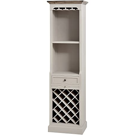 WARM GREY TALL DRINKS STORAGE CABINET CUPBOARD FIELDING (H16253) ** FULL RANGE OF MATCHING FURNITURE IS AVAILABLE **