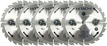 5-Pack Hitachi Circular Saw Blade Set