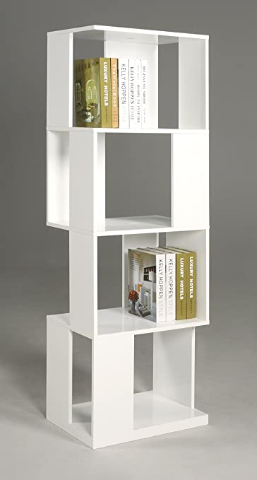 Chintaly Imports All Side Open Modern Book Shelf, White