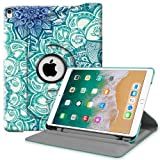 Fintie iPad Pro 10.5 Case with Built-in Apple Pencil Holder - 360 Degree Rotating Stand Protective Cover with Auto Sleep / Wake Feature for Apple iPad Pro 10.5 Inch 2017 Release, Emerald Illusions