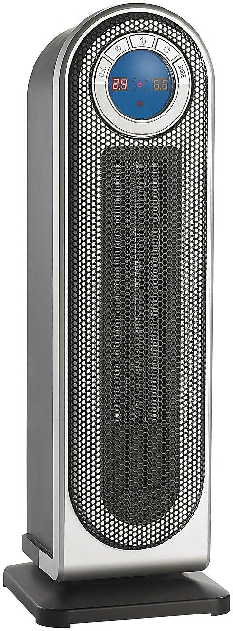 Sichler Haushaltgeräte Keramikheizlüfter mit LCD, Fernbedienung, 1500W   Bewertungen