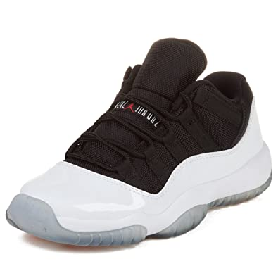 Air Jordan 11 Retro Low GS (White/Black-True Red) Size 4Y