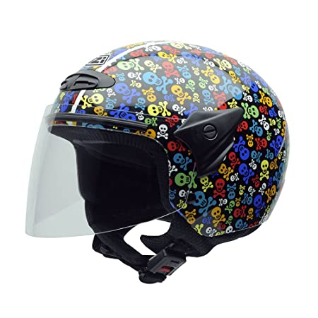 NZI 050017G410 Helix Junior Graphics Pirates, Casque de Moto, Taille L Multicolore