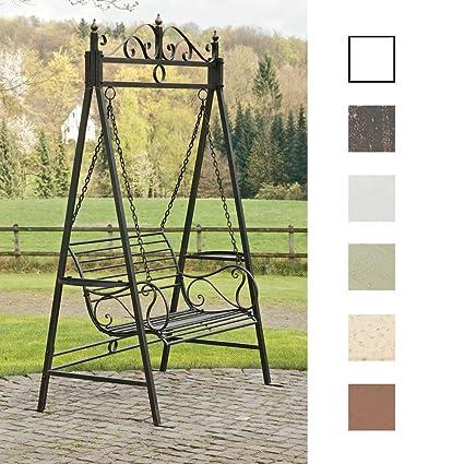 CLP 2 Places / 3 Places Balancelle de jardin AIMEE dans un style nostalgique, en fer laqué trés élégant, bronze