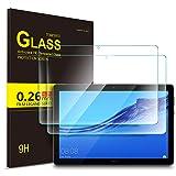 Luibor Huawei MediaPad T5 10 Tablet Tempered Glass Screen Protector HD Screen Protector for Huawei MediaPad T5 10 Tablet (2pcs) (Color: Transparent)