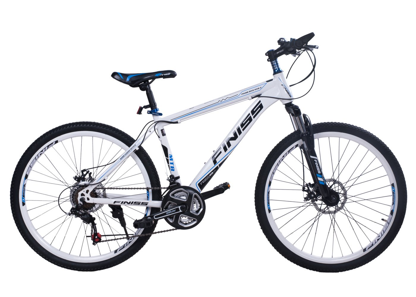 SHINEWOOD(シャインウッド) 自転車 26インチ マウンテンバイク MTB フロントサスペンション シマノ21段変速  前後機械式ディスクブレーキ ライト・鍵・フレームバッグ3点付き 3色