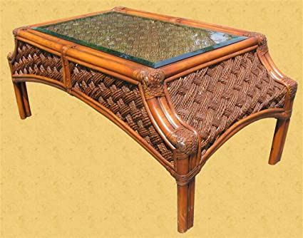 Coffee Table w Glass Inset