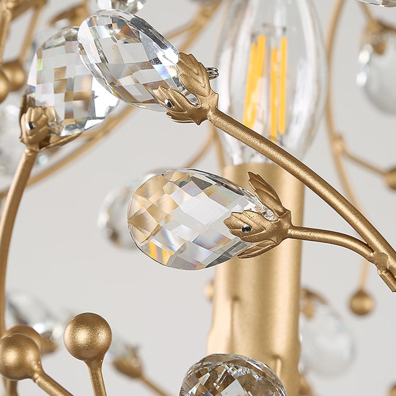 Garwarm Vintage Chandelier 3 lights Antique Pendant light Home Ceiling Light Fixtures Chandeliers Lighting,Golden 5