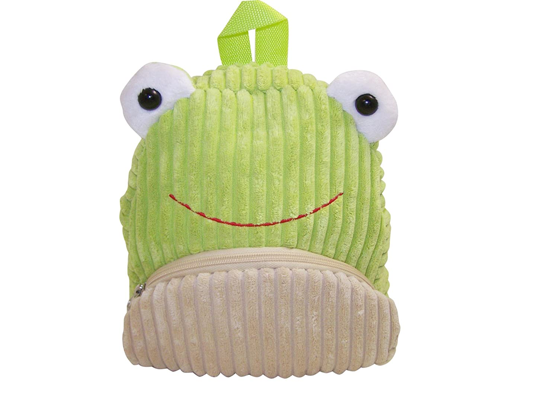 Sassafras CuddlePack Corduroy Backpack, Frog