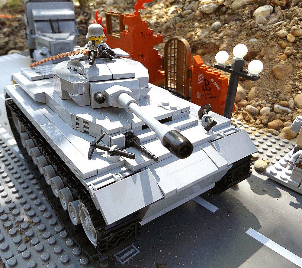 Modbrix 2461 – ✠ Bausteine Panzer IV, 440 Teile, inkl. custom Wehrmacht Soldaten aus original Lego© Teilen ✠ günstig als Geschenk kaufen