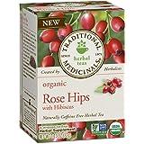 Traditional Medicinals Organic Rose Hips with Hibiscus Herbal Leaf Tea, 16 Tea Bags (Pack of 6) (Tamaño: Pack of 6)