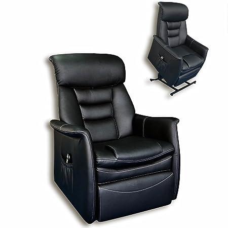 ROLLER TV-Sessel - schwarz - Kunstleder - Aufstehhilfe