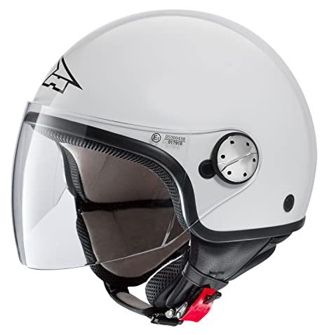 AXO MS1P0037-W01 Subway Basic Casque, Taille XS, Blanc Brillant