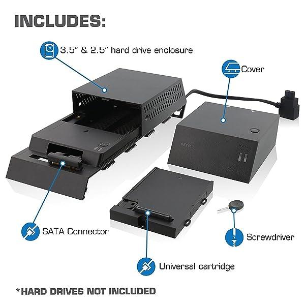Storite (Playstation 4) PS4 Storage Expansion Hard Drive 2TB DataBank (GameBar) - 1 Year Warranty (2TB) (Color: Black, Tamaño: PS4 2TB HDD)