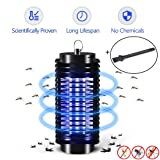 Electric Mosquito Killer Lamp,Mosquitoes Bug Zapper,Insect Repeller, Pest Bug Killer Trap Night Light No Radiation Non-toxic Pest Zapper UV light Trap Lamp for Standing Hanging INDOOR ONLY (Color: Upgraded Version)