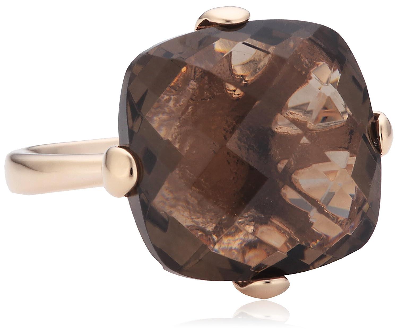 Bronzallure Damen-Ring Bronze mit facettiertem Rauchquarz cushion cut Gewicht 6,6g WSBZ00281S schenken