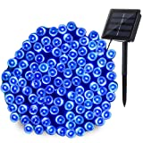 Qedertek 200 LED Solar String Lights, 72ft Fairy Lights Decorative Lighting for Home, Lawn, Garden, Wedding, Patio, Party and Holiday Decorations (Blue) (Color: Blue, Tamaño: 1PACK)
