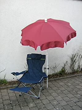 Holly® Productos-Stabielo Wellness de Juego de relax silla D de azul + Pantalla Burdeos 150cm + 360° universalgelenkh Projector GVC-25& # x20ac;-Protección de goma con tapas-&n