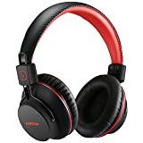 Mpow H1 Bluetooth Headphones Over Ear Lightweight, Comfortable for Prolonged Wearing, Hi-Fi Stereo Wireless Headphones, Foldable Headset w/ Built-in Mic and Wired Mode for PC/ Cell Phones Black-Red