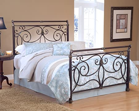 Hillsdale Furniture 1643BQR Brady Bed Set with Rails, Queen, Antique Bronze