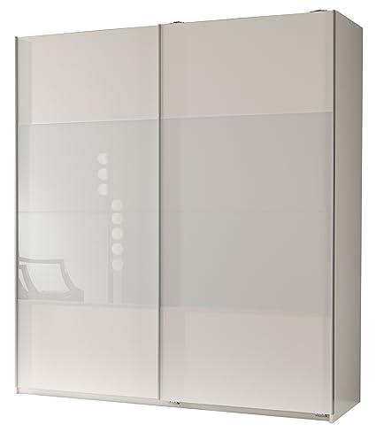 Wimex 113771 Schwebeturenschrank 198 x 180 x 64 cm, Front alpinweiß und Glas weiß, Korpus alpinweiß