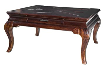 Uttermost Lachlan Distressed Solid Wood Coffee Table in Mahogany