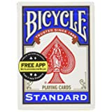 Bicycle Standard Index Playing Cards 1 Deck, Colors may Vary (Red or Blue) (Color: Mixed Colors, Tamaño: Pack of 12)